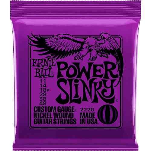 Kit 4jg Encordoamento Guitarra Ernie Ball 11/48 Power Slinky