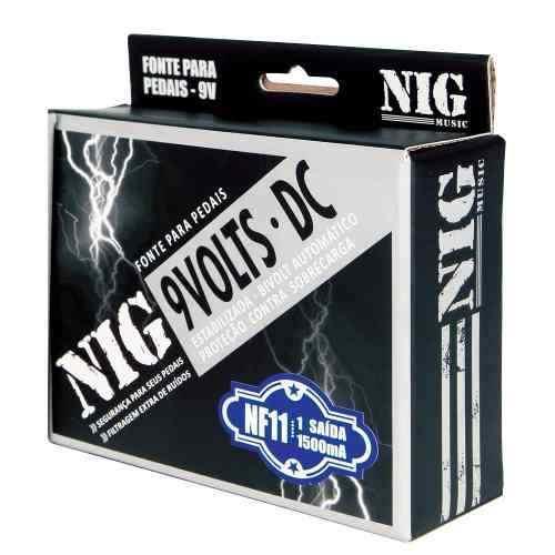 Nf11 Fonte 9v Estabilizada Para Pedais 1 Saída Bivolt
