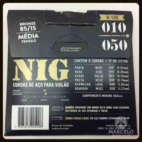 Encordoamento Violão Nig 010/50aço