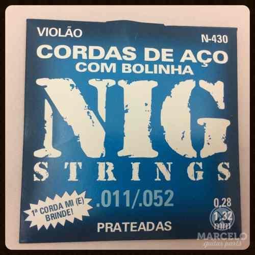 Encordoamento Violão Nig 011/52 Aço