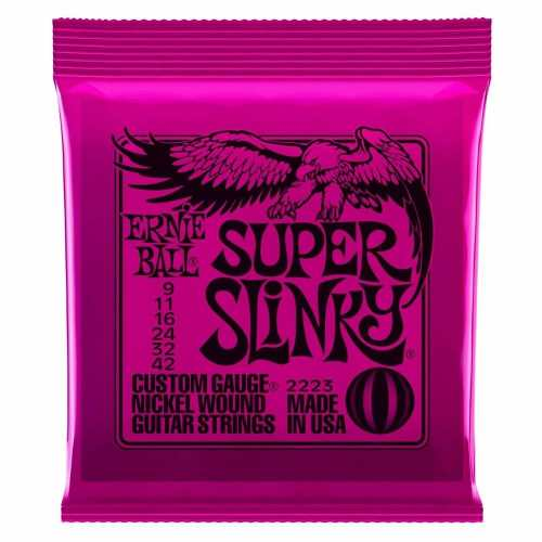 Kit 6jg Encordoamento Guitarra Ernie Ball 09/42 Super Slinky