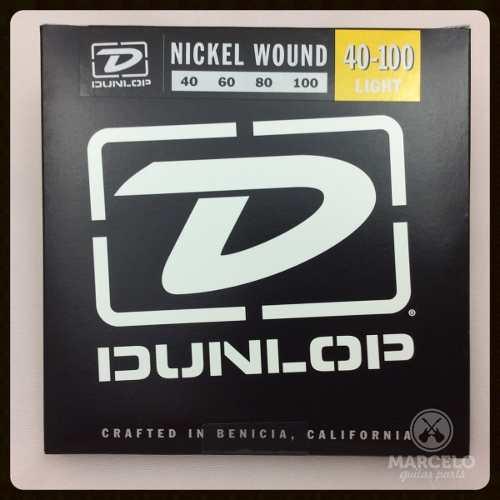 Encordoamento Contrabaixo Dunlop 040 4c,revenda Autorizada!