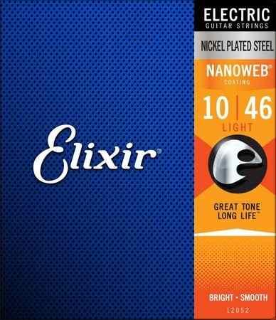 Encordoamento Guitarra Elixir 010-046 Nanoweb Light
