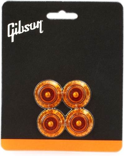 Jogo Knob Gibson Piramidal Hat Vintage Amber Prhk030
