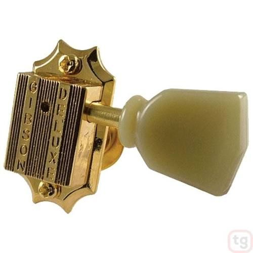 Tarraxa Gibson Deluxe Dourada Para Guitarra 3+3 Pmmh-020