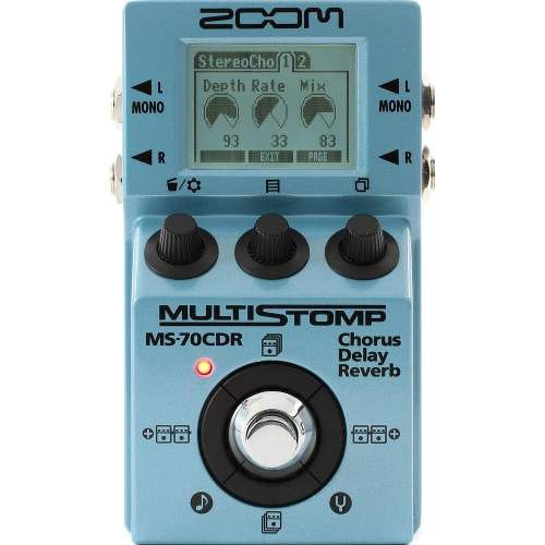 Pedal Zoom Ms 70cdr Multi Stomp Chorus/delay Shimmer Reverb