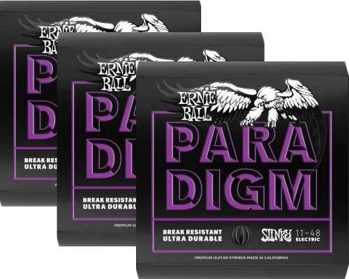 Kit 3sets Encordoamento Guitarra Ernie Ball Paradigm 011/048