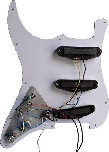 Escudo Guitarra Stratocaster Completo Captadores Chave Knobs