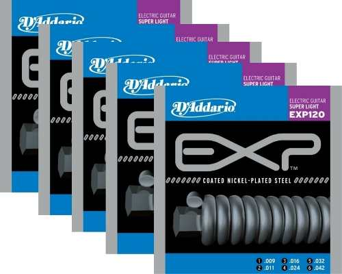 Kit 5sets Encordoamento Guitarra D' Addario Exp 120 009/042