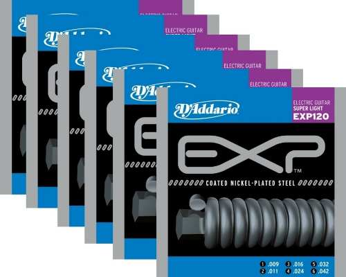 Kit 6sets Encordoamento Guitarra D' Addario Exp 120 009/042