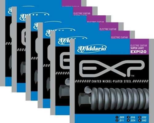 Kit 6sets Encordoamento Guitarra D' Addario Exp 120 009/042