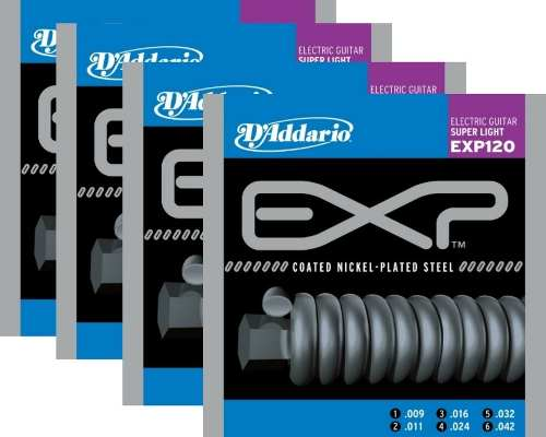 Kit 4sets Encordoamento Guitarra D' Addario Exp 120 009/042