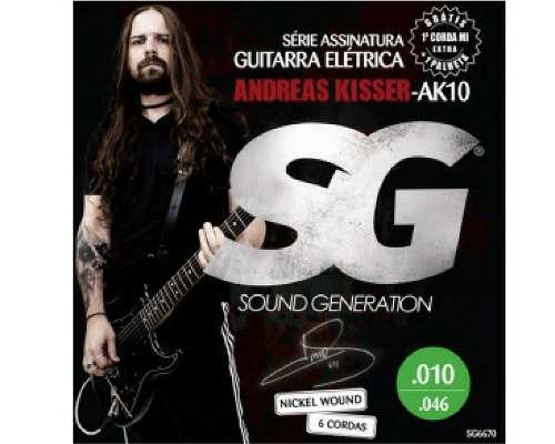 Kit 6sets Encordoamento Guitarra Ak10 Andreas Kisser