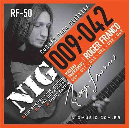 Kit 6sets Encordoamento Guitarra 009/042 Nig Roger Franco!
