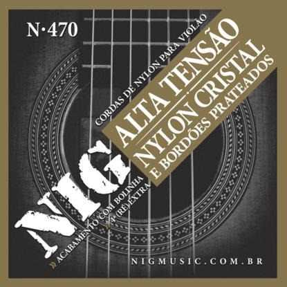 Kit 6sets Encordoamento Violão Nylon Nig Alta Tensão N-470