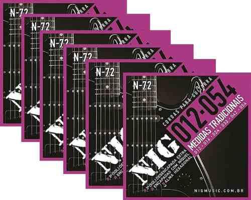 Kit 6sets Encordoamento Guitarra 012/054 Nig,promoção!