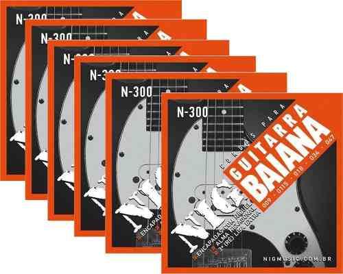 Kit 6sets Encordoamento Guitarra Baiana 009/047 Nig