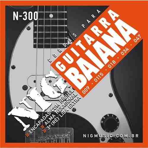 Kit 6sets Encordoamento Guitarra Baiana 009/047 Nig