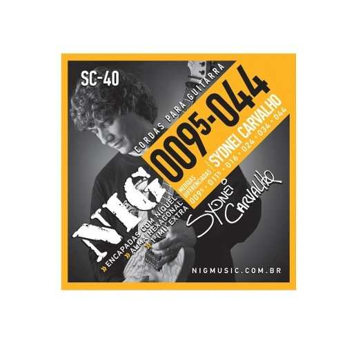 Kit 4sets Encordoamento Guitarra 095/044 Nig Sydnei Carvalho