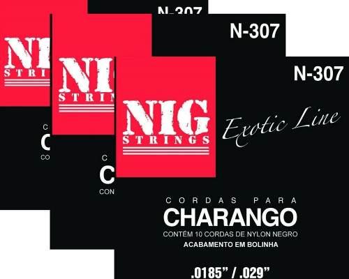 Kit 3sets Encordoamento Nylon Charango 009/047 Nig