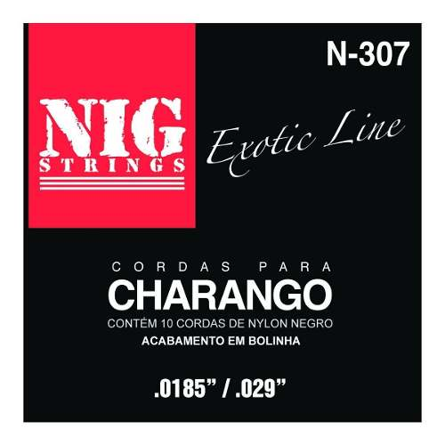 Kit 3sets Encordoamento Nylon Charango 009/047 Nig