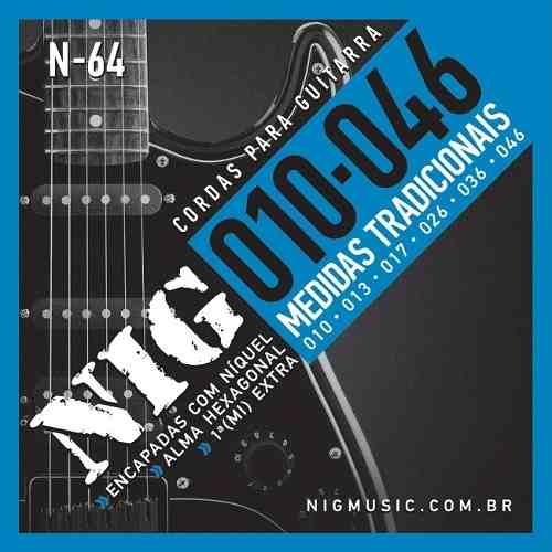 Kit 3sets Encordoamento Guitarra 010/046 Nig