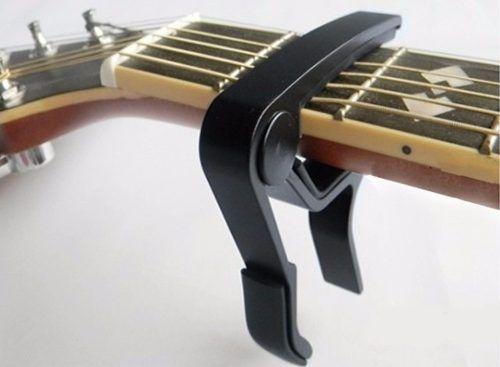 Capotraste De Alumínio (violao E Guitarra) Preto