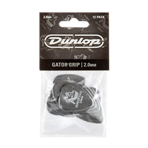 Kit Pacote 12pçs Palheta Dunlop Gator Grip 2,00mm