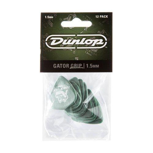 Kit Pacote 12pçs Palheta Dunlop Gator Grip 1,5mm