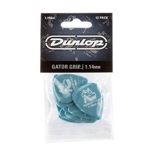 Kit Pacote 12pçs Palheta Dunlop Gator Grip 1,14mm