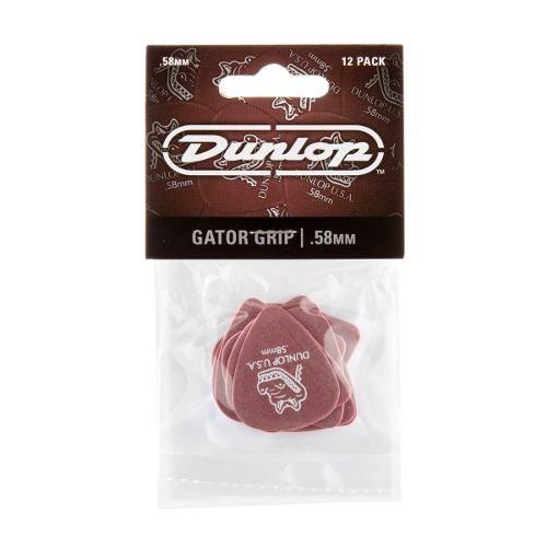 Kit Pacote 12pçs Palheta Dunlop Gator Grip 0,58mm