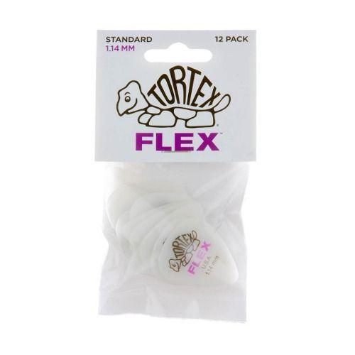Kit Pacote 12pçs Palheta Dunlop Tortex Flex Jazz Iii 1,14mm