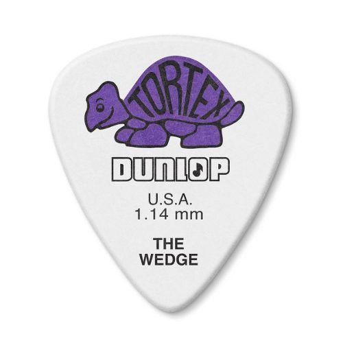 Kit 12pçs Palheta Dunlop Tortex Wedge 1.14mm
