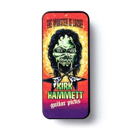 Kit 6pçs Palheta Dunlop Kirk Hammett Latinha Colecionavel