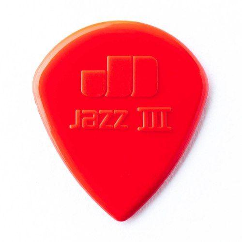 Kit Pacote 24pçs Palheta Dunlop Jazz 3 Vermelha
