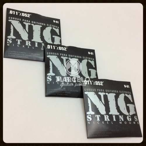 Kit 3sets Encordoamento Guitarra 011/052 Nig