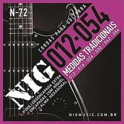 Kit 3sets Encordoamento Guitarra 012/054 Nig
