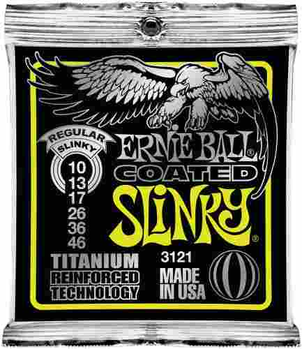 Kit 6sets Encordoamento Guitarra Ernie Ball 10/046 Coated