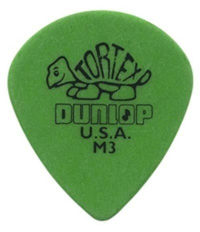 Kit Pacote 6pçs Palheta Dunlop Tortex Jazz M3 0.88mm Verde