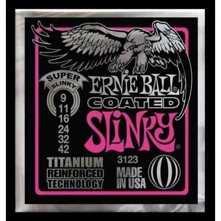 Kit 5sets Encordoamento Guitarra Ernie Ball 009/42 Coated