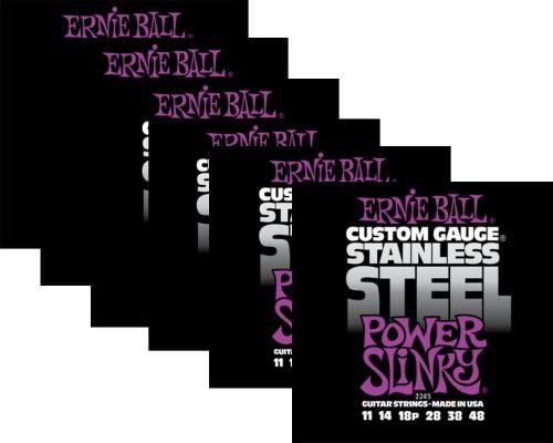 Kit 6sets Encordoamento Guitarra Ernie Ball 011/48 Stainless