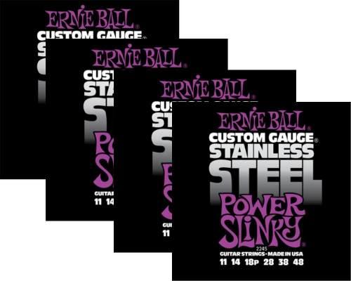Kit 4sets Encordoamento Guitarra Ernie Ball 011/48 Stainless