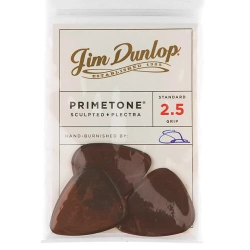 Kit Pacote 3pçs Dunlop Primetone Standard Pick With Grip 2.5