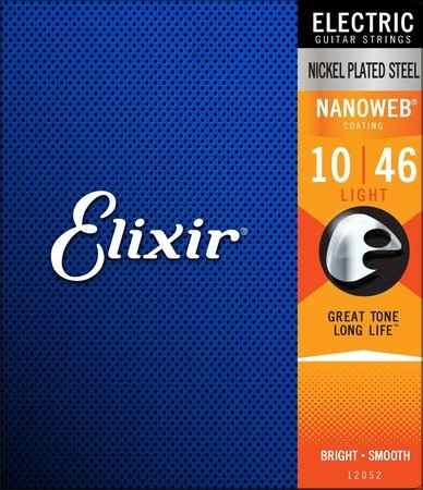 Kit 2jgs Encordoamento Guitarra Elixir 010-046 Nanoweb