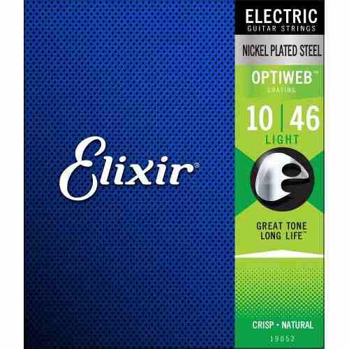 Encordoamento Guitarra Elixir 010-046 Optiweb Light