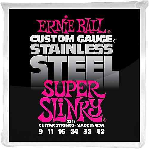 Kit 4sets Encordoamento Guitarra Ernie Ball 009/42 Stainless