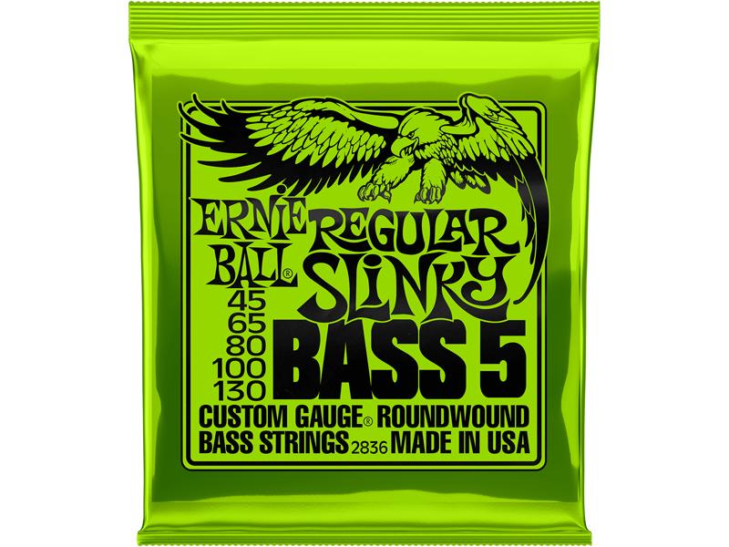 Encordoamento ContraBaixo Ernie Ball Slinky 5 Cordas (045)
