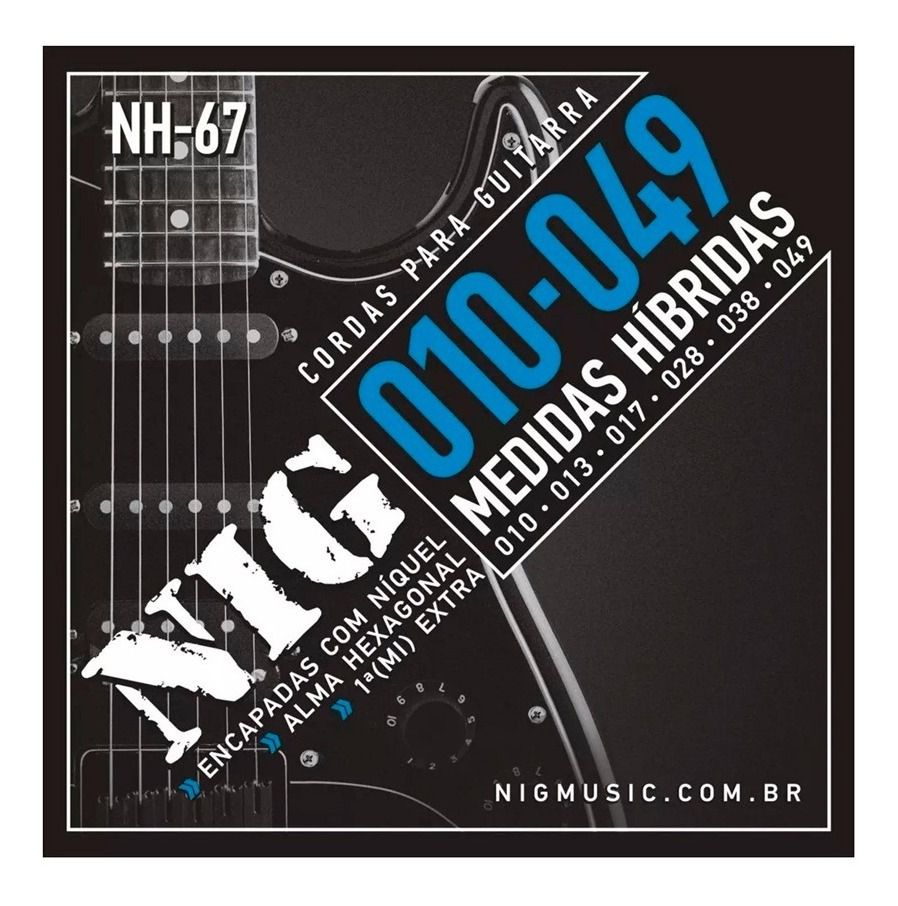 Encordoamento Guitarra 010/049 Nig Nh-67