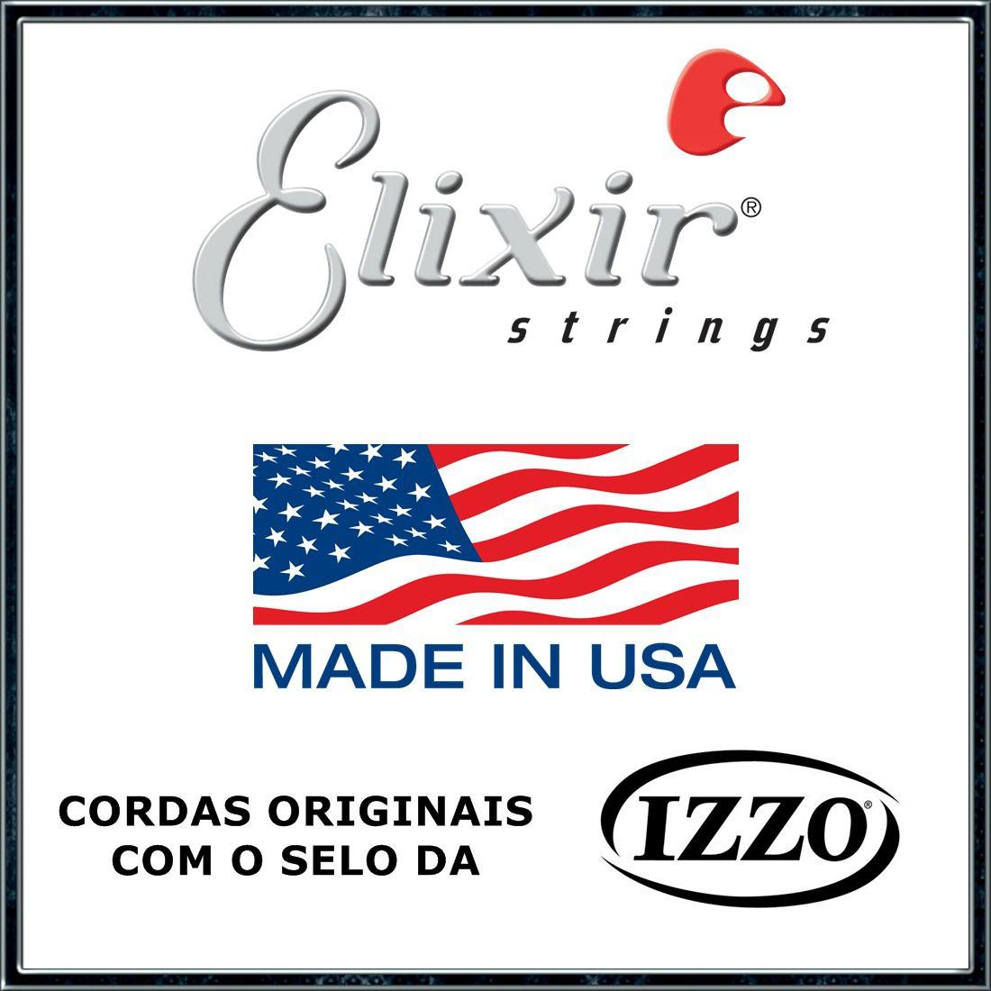 Encordoamento Guitarra Elixir 010/052 Nanoweb