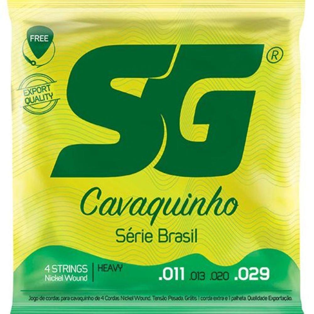 Encordoamento Para Cavaquinho Sg Jogo 4 Cordas 011/029